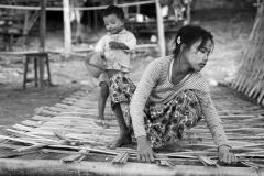 Banks of the Irrawaddy River, Mandalay, Myanmar